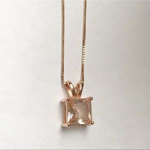 Jewelry - 14k Rose Gold Sterling Morganite Necklace
